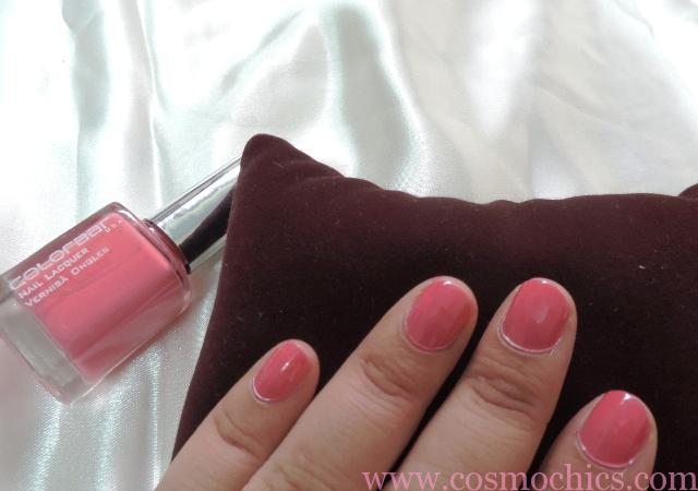 Colorbar Nail Lacquer 102 Sizzling Pink Review Amp Swatches