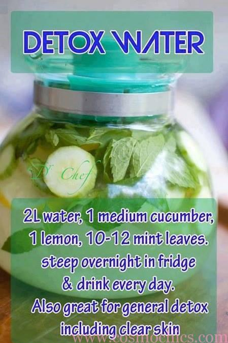 Mar 11,  · A simple cucumber detox spa water made with fresh lemons and mint. Add a couple of tablespoons of chia seeds to a pitcher to boost the nutritional profile and stay hydrated through the orimono.gags: 6.