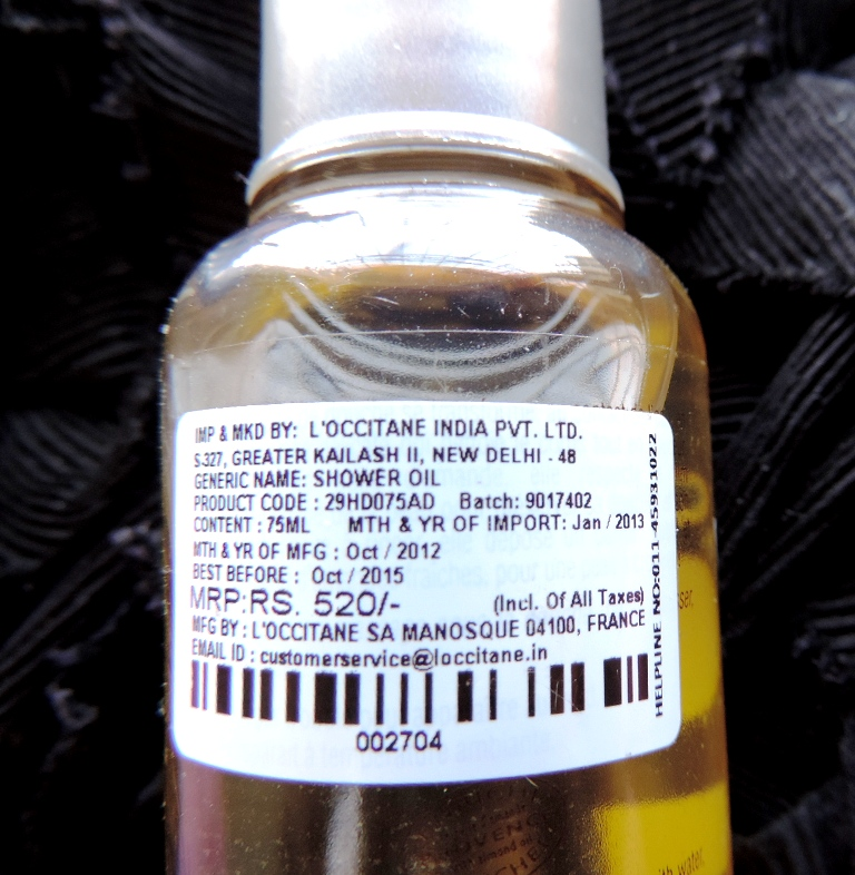 l occitane shower oil how to use