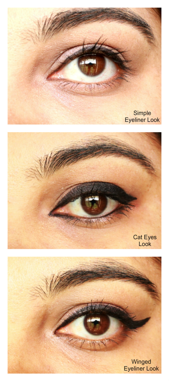 My 3 Different Eyeliner Looks With Maybelline Gel Liner
