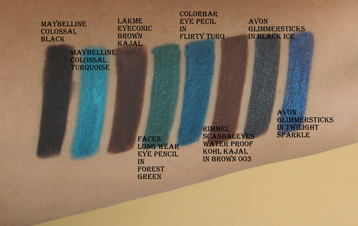 My 10 Best Colored Eye Pencils